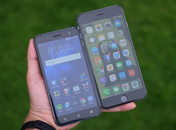 Asus Zenfone 3 đọ dáng cùng iPhone 6 Plus