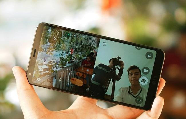 Giao diện chụp ảnh của LG G6