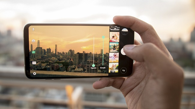 Giao diện chụp ảnh của LG V30