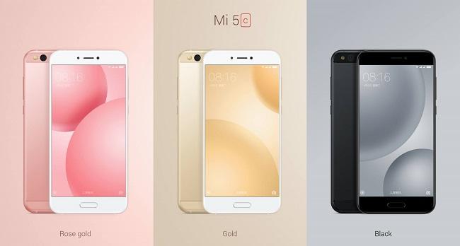 Xiaomi Mi 5c sẽ được bán ra với 3 màu sắc