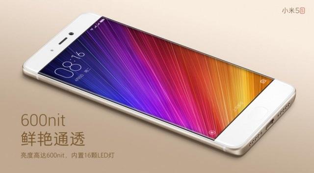 Màn hình Xiaomi Mi 5s có độ sáng lên đến 600nit