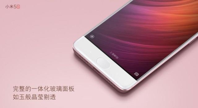 Màn hình Xiaomi Mi 5s được vát cong 2.5D