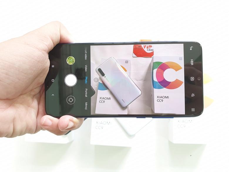 giao diện chụp ảnh trên Xiaomi Mi CC9 xách tay giá rẻ
