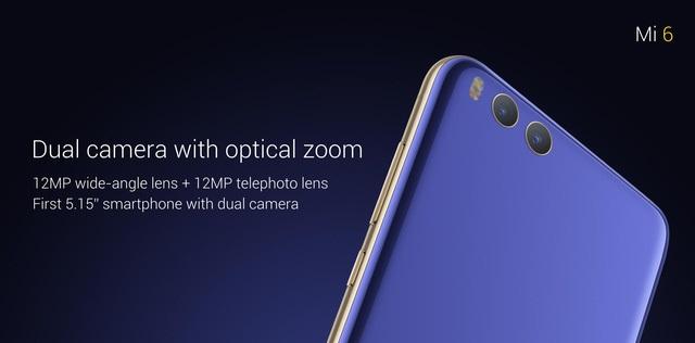 Xiaomi Mi 6 được trang bị camera kép