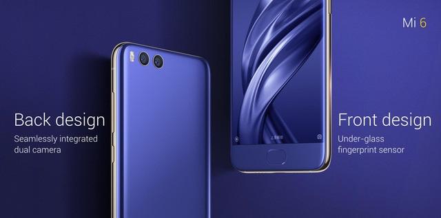 Thiết kế tổng quan Xiaomi Mi 6