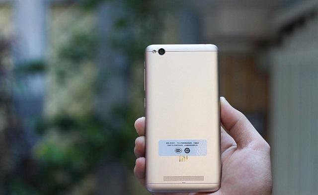 Thiết kế mặt lưng Xiaomi Redmi 4A