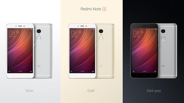 3 màu cơ bản của Xiaomi Redmi Note 4