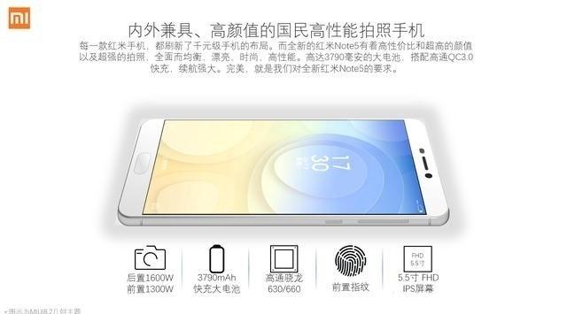 Thông số cấu hình Xiaomi Redmi Note 5