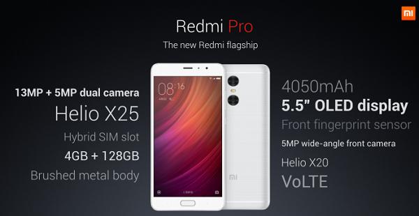 Thông số kỹ thuật ấn tượng của Xiaomi Redmi Pro