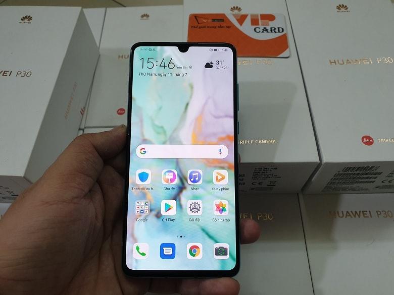 màn hình của Huawei P30 chính hãng