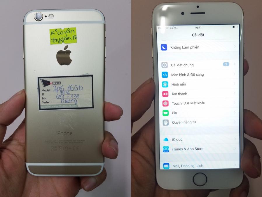 iPhone 6 mất vân tay tại Viettablet