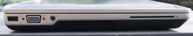 Cạnh trái Dell Latitude E6430 cũ là cổng USB 2.0, VGA, và jack audio