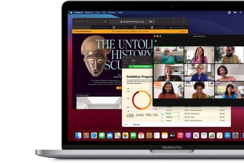 hiệu năng màn hình macbook pro m1 512gb