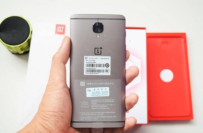 OnePlus 3T thiết kế mặt sau
