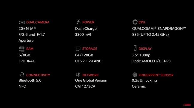 Cấu hình OnePlus 5