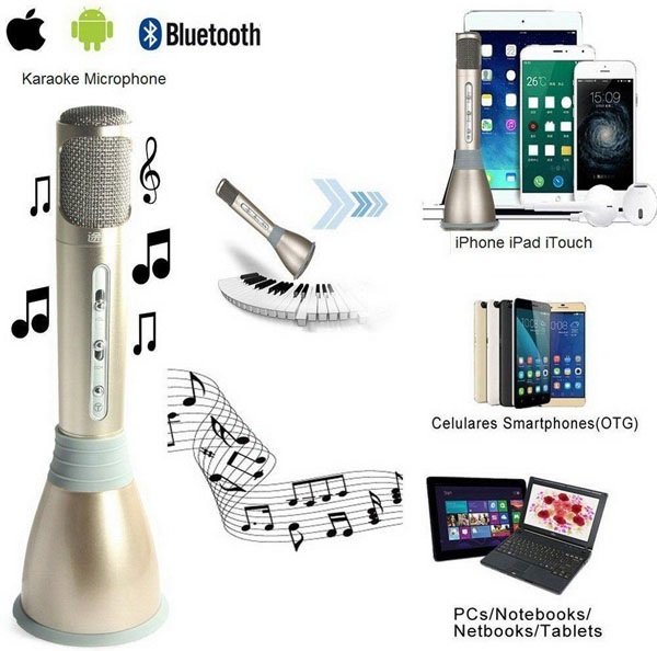Hát karaoke với âm thanh chất lượng cao thỏa thích chỉ với Micro Bluetooth Karaoke TUXUN K068