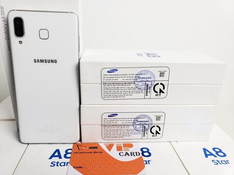 Tem chính hãng trên Samsung Galaxy A8 Star