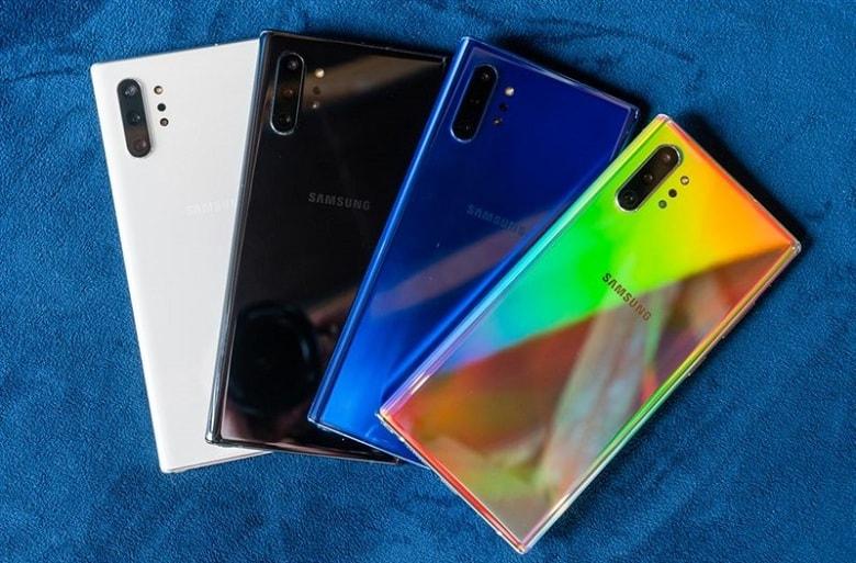 Màu sắc của Samsung Galaxy Note 10 công ty