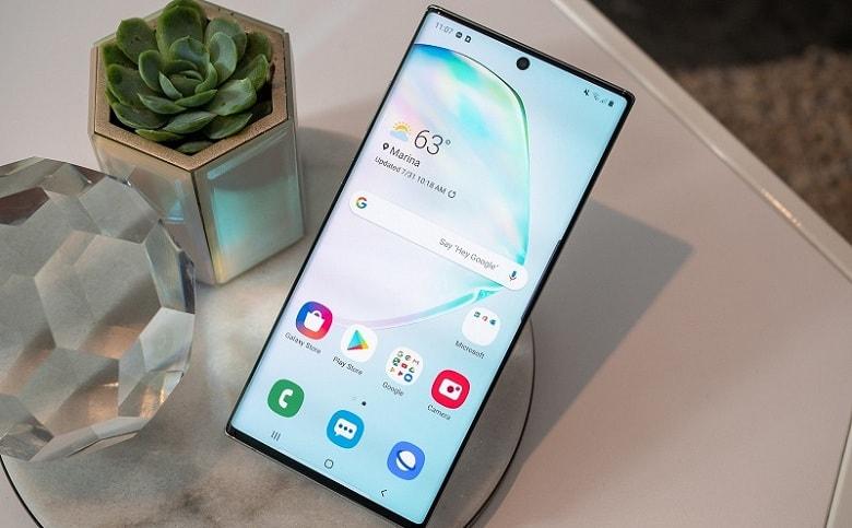 màn hình Samsung Galaxy Note 10 Mỹ rất sắc nét