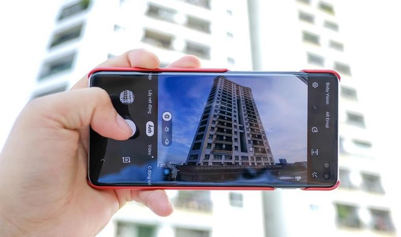 giao diện chụp ảnh của Samsung Galaxy S10+ Park Hang Seo