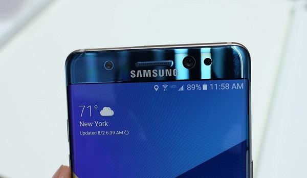 Samsung Note 7 chính hãng xách tay camera