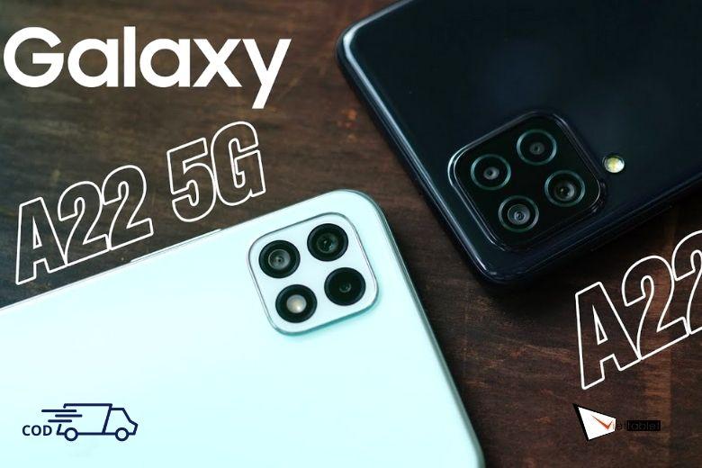 Cận cảnh Samsung Galaxy A22 4G và 5G