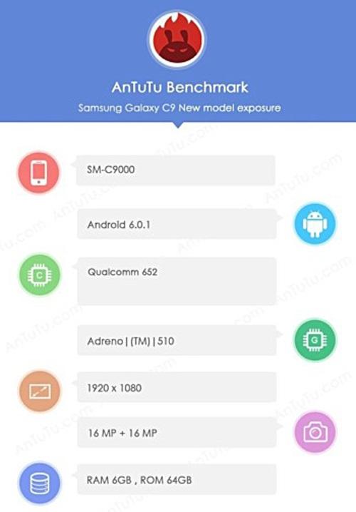 Cấu hình Samsung Galaxy C9 lộ trên Antutu