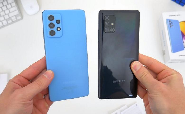 thiết kế Galaxy A72 vs M51