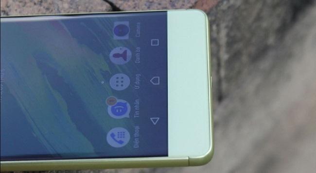 Mặt trước Sony Xperia XA Cũ sỡ hữu viền màn hình khá mỏng