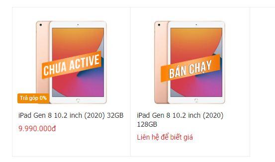 Đặt mua iPad Gen 8
