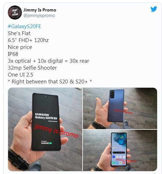 thông số Samsung Galaxy S20 FE 5G