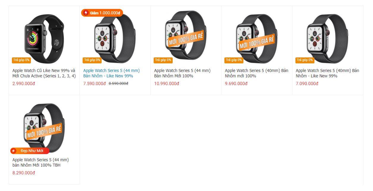 giá âpple watch series 5