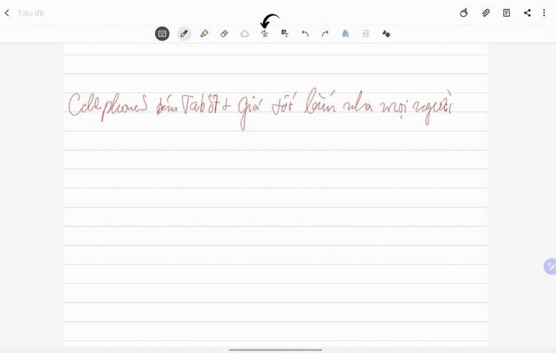 căn lề chữ viết tay