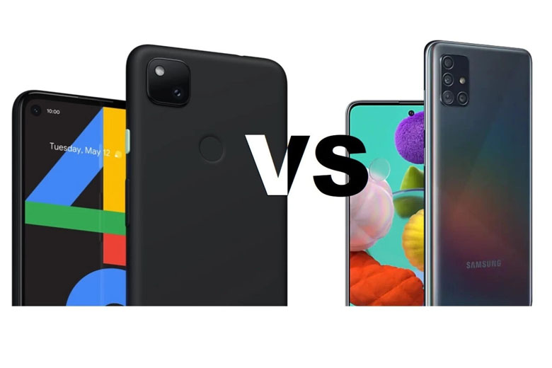 So sánh Google Pixel 4a 5G với Galaxy A51 5G