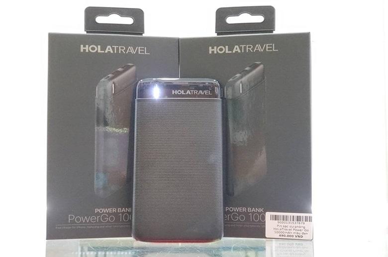 sạc dự phòng HoLaTravel Power Go 10000mAh fullbox