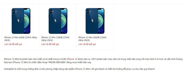 Đặt mua iPhone 12 Mini