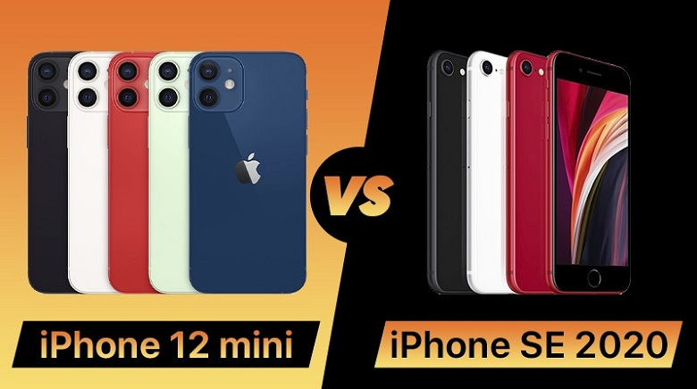 So sánh iPhone 12 Mini với iPhone S2 2020