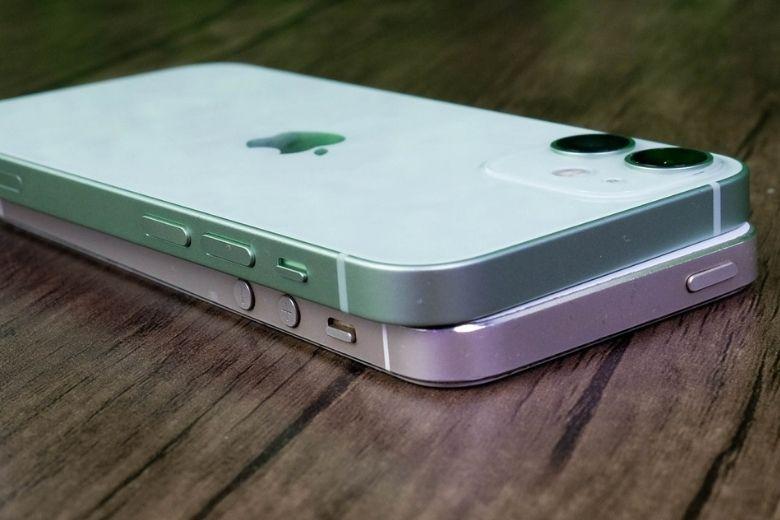 cạnh trái iphone 12 mini vs iphone 5s