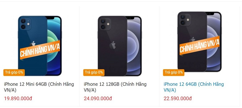 giá iphone 12 mini