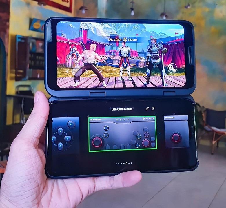 gamepad bằng màn hình phụ lg v50