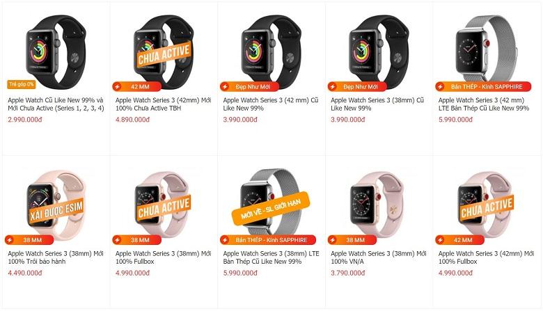 giá apple watch series 3