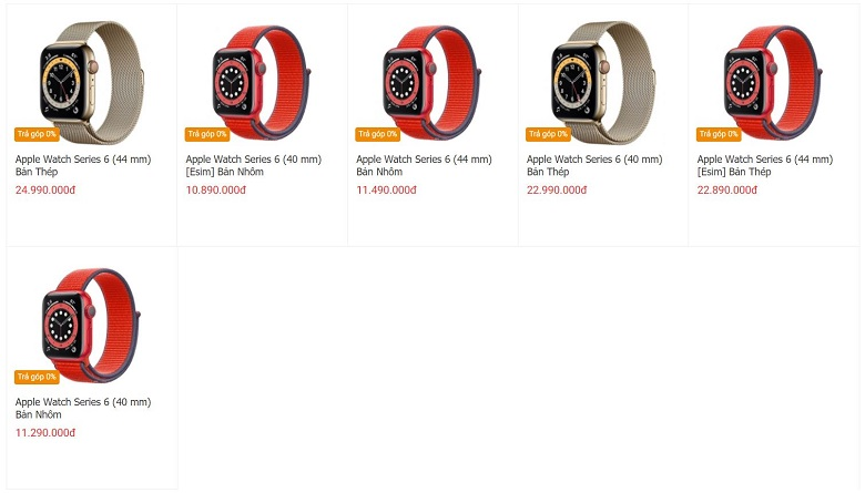 giá apple watch series 6