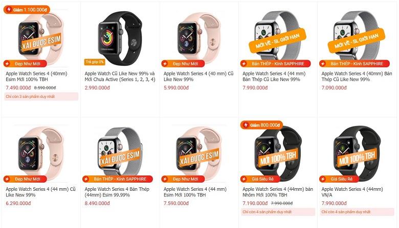 giá apple watch series 4