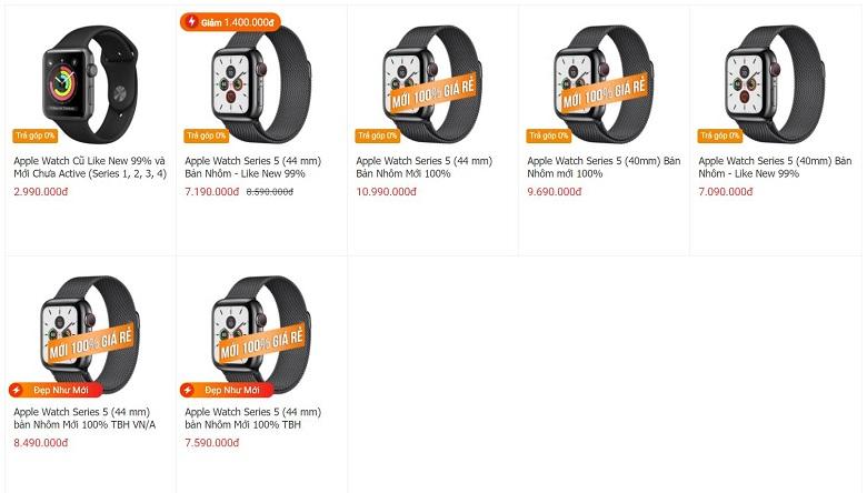 giá apple watch series 5