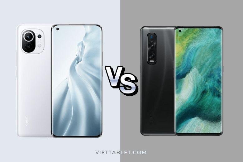 So sánh Xiaomi Mi 11 vs Oppo Find X2