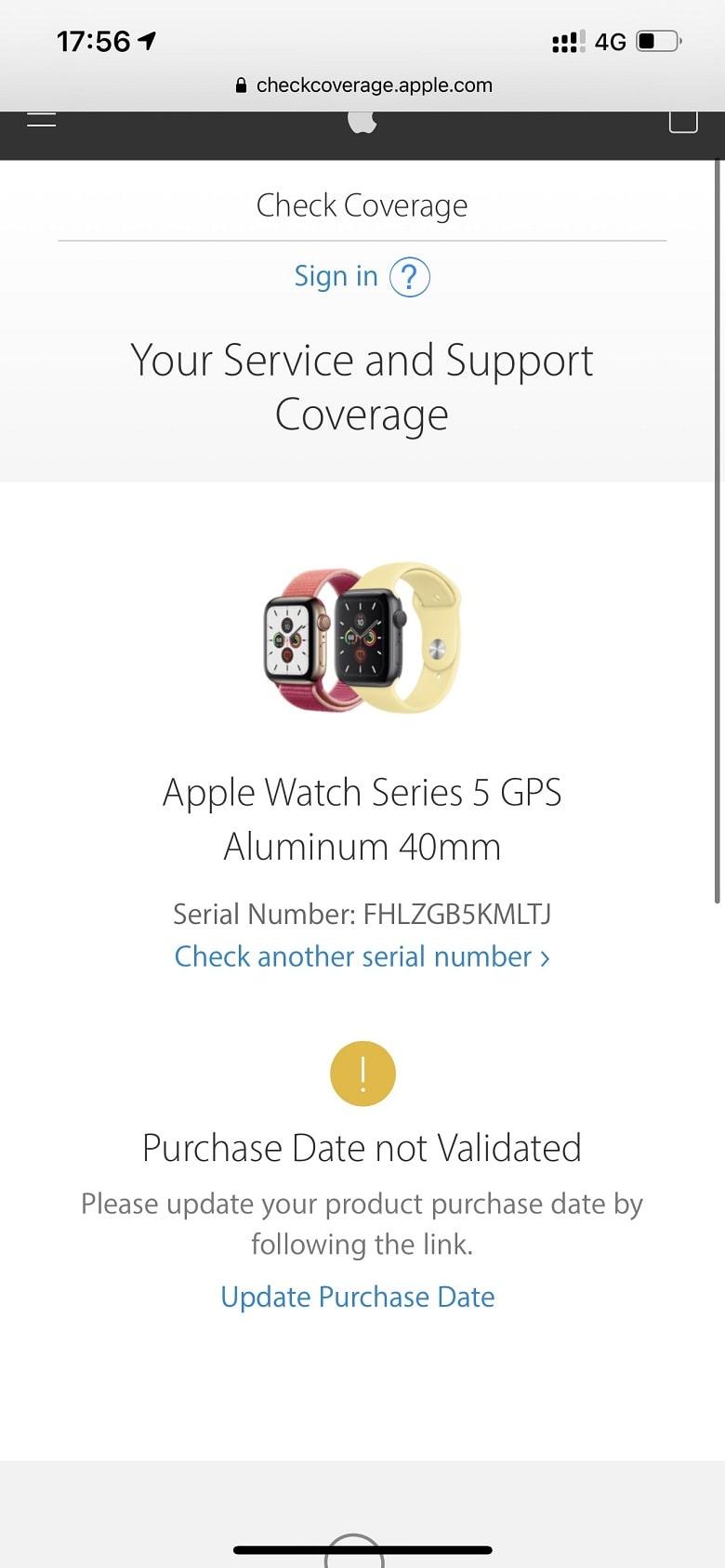 kiểm tra Apple Watch Series 5 (40mm)