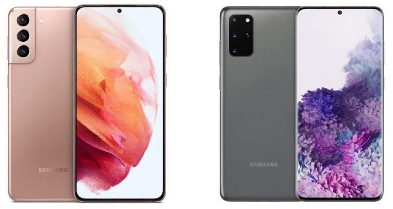màn hình Galaxy S21+ và Galaxy S20+