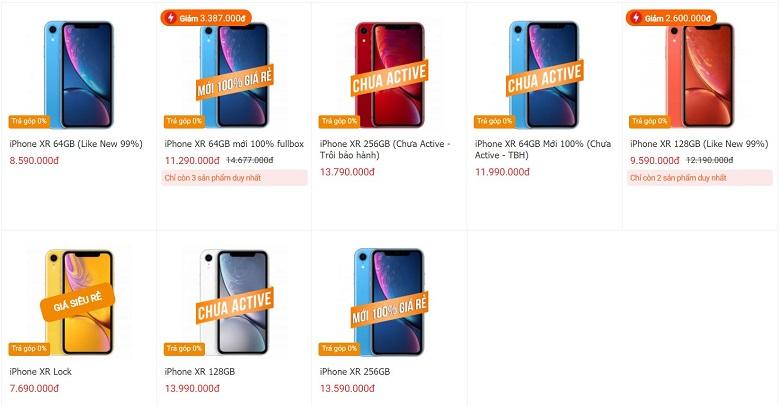 giá iphone xr