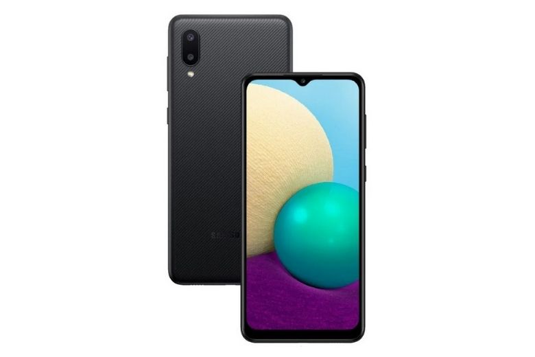 Samsung Galaxy A02 (2020) thiết kế
