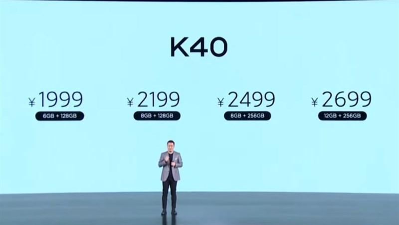 giá bán xiaomi redmi k40